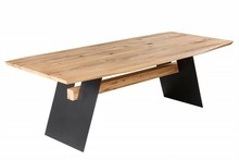 Stół do jadalni GRAND OAK 200 cm - naturalny dąb/czarny