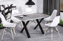 Stół rozkładany X210 130/210x80 - beton