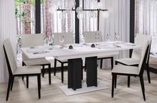 Stół rozkładany AURORA 170 130/170x80 - biały połysk