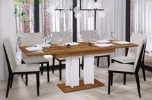 Stół rozkładany AURORA 170 130/170x80 - dąb stirling