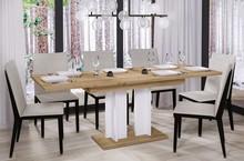 Stół rozkładany AURORA 170 130/170x80 - dąb wotan