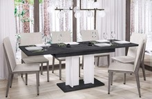 Stół rozkładany AURORA 210 130/210x80 - ciemny beton