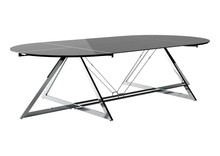 Stół konferencyjny Z-LINE COMPUTER DESK - chrom/szkło czarne