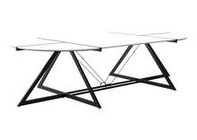 Stół konferencyjny DD Z-LINE COMPUTER DESK - czarny/biały