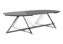 Stół konferencyjny Z-LINE MAIN DESK - chrom/szkło czarne