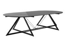 Stół konferencyjny DD Z-LINE MAIN DESK - czarny/szkło czarne