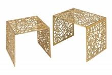 Zestaw stolików ABSTRACT - złoty