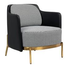 Fotel VENICE - pepitka/czarny