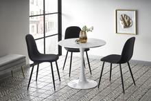 Stół DENVER - biały marmur/biały