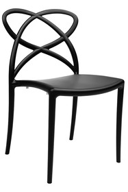 Krzesło z giętym oparciem ARCO - czarny