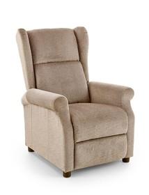 Fotel rozkładany z funkcją masażu AGUSTIN M - beżowy
