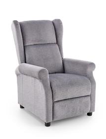 Fotel rozkładany z funkcją masażu AGUSTIN M - popielaty