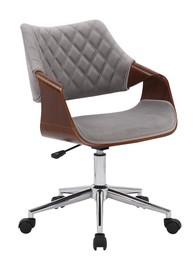Fotel biurowy COLT - orzechowy/popielaty velvet