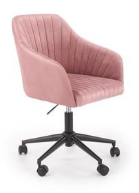 Fotel młodzieżowy FRESCO - różowy velvet