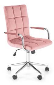 Fotel młodzieżowy GONZO 4 - różowy velvet