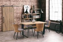 Stół HARRIS 150x80 - dąb naturalny/czarny
