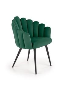 Krzesło K410 velvet - ciemny zielony
