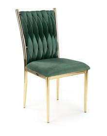 Krzesło K436 - ciemny zielony/złoty