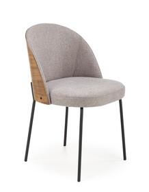 Krzesło K451 - popielaty/jasny orzech