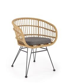 Krzesło K456 - naturalny/popielaty