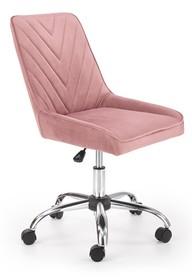 Fotel młodzieżowy RICO - różowy velvet