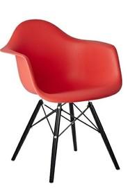 Krzesło DAW BLACK - czerwony
