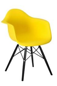 Krzesło DAW BLACK - żółty