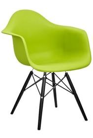 Krzesło DAW BLACK - zielony
