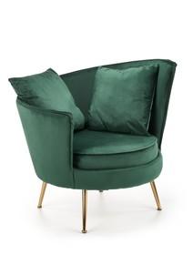 Fotel wypoczynkowy ALMOND - ciemny zielony
