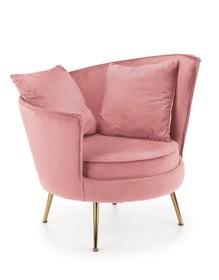 Fotel wypoczynkowy ALMOND - różowy