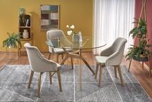 Stół ASHMORE 120 cm - transparentny/naturalny