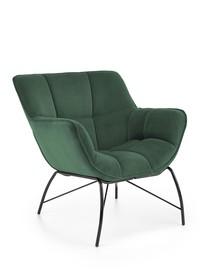 Fotel wypoczynkowy BELTON - ciemny zielony