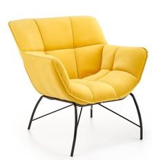 Fotel wypoczynkowy BELTON - żółty