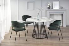 Stół BRODWAY - biały marmur/czarny