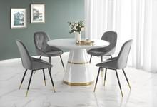 Stół VEGAS - biały/złoty