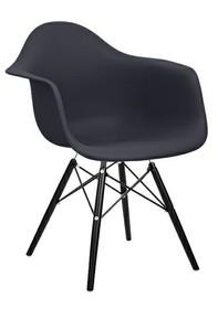 Krzesło DAW BLACK -  czarny (podstawa czarna)
