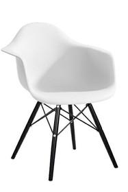 Krzesło DAW BLACK - biały