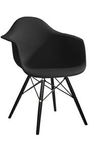 Krzesło DAW BLACK - czarny