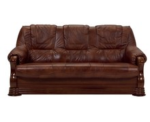 PROMOCJA - Sofa rozkładana PARMA 3F - skóra naturalna