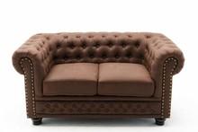 Sofa 2-osobowa pikowana CHESTERFIELD II - brązowy