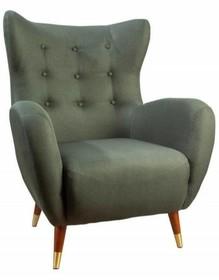 Fotel tapicerowany DON - zielony