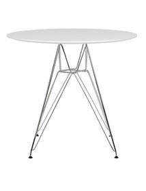 Stół okrągły DSR 100 - biały/chrom