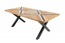 Stół LONG ISLAND 160x90 - naturalny/czarny