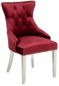 Krzesło pikowane CASTLE - czerwony